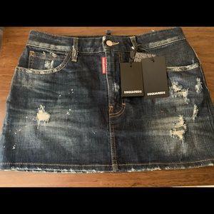 DSqaured2 denim mini skirt